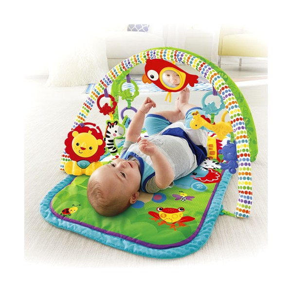 Centru activitati muzical 3 in 1 Fisher Price Rainforest Musical Activity Gym 0
