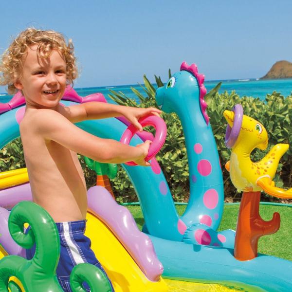 Centru de joaca cu piscina Intex Dinoland 333x229x112 cm 4