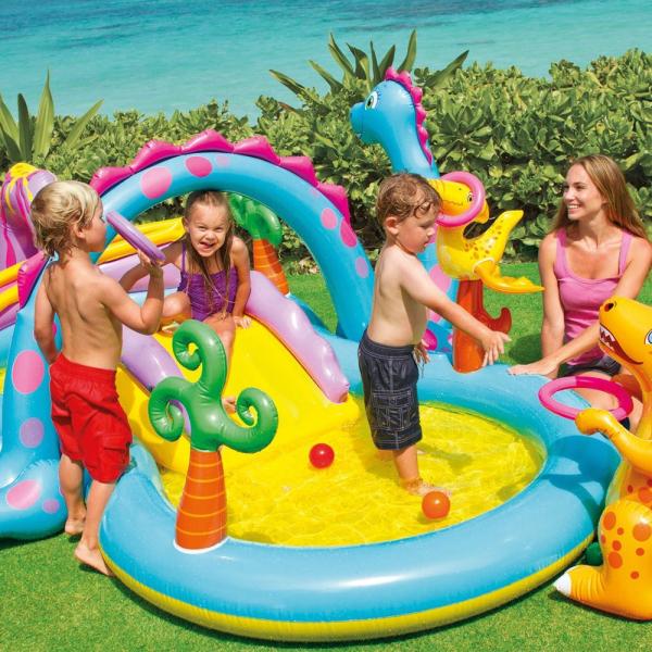 Centru de joaca cu piscina Intex Dinoland 333x229x112 cm 1