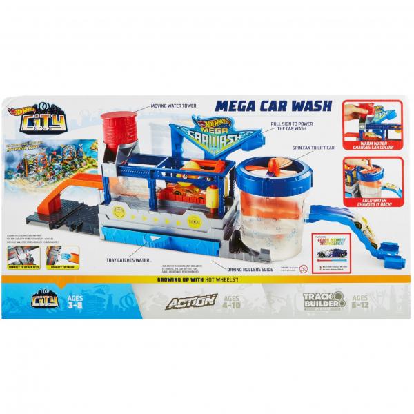 Set Hot wheels mega car wash 7