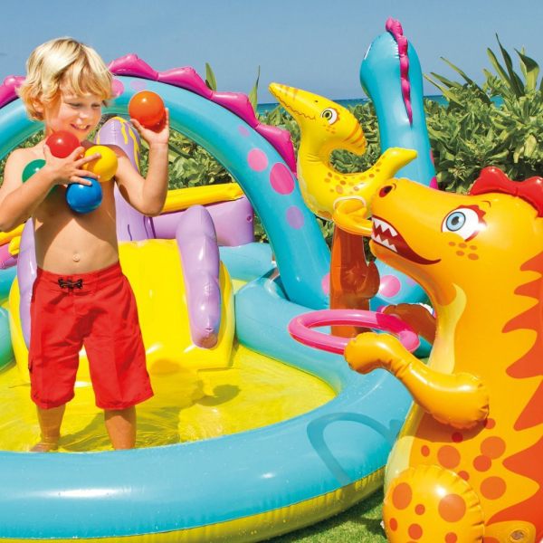 Centru de joaca cu piscina Intex Dinoland 333x229x112 cm 3