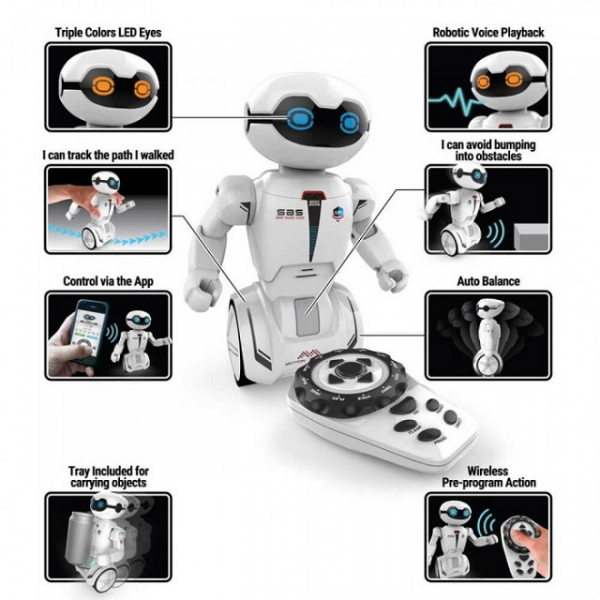 Robot programabil Silverlit Macrobot, telecomanda, rosu 3