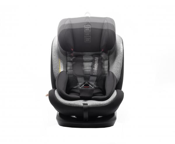 Scaun auto BABYAUTO VOLTA, Isofix, rotatie 360 grade, 0-36 kg, Negru/Gri 6