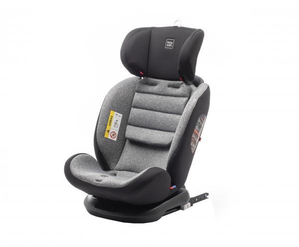 Scaun auto BABYAUTO VOLTA, Isofix, rotatie 360 grade, 0-36 kg, Negru/Gri 7