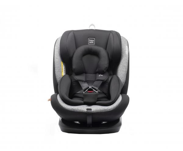 Scaun auto BABYAUTO VOLTA, Isofix, rotatie 360 grade, 0-36 kg, Negru/Gri 2