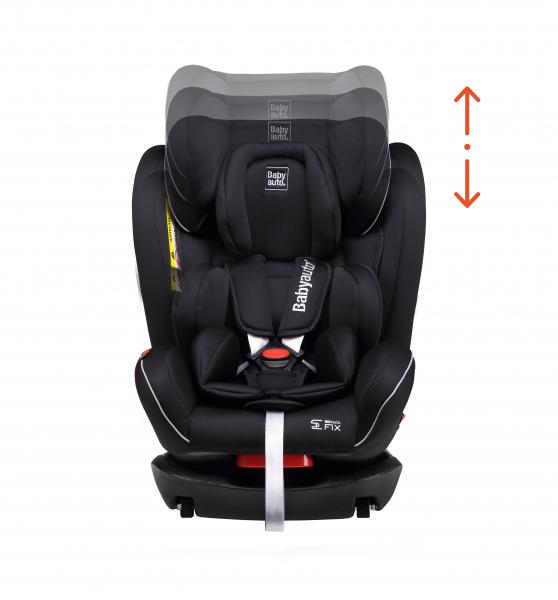 Scaun auto BABYAUTO NOE Fix, Dual Isofix, 0-36 kg, Negru/Gri 4