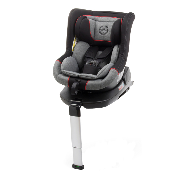 Scaun auto BABYAUTO MORE LENNOX, Isofix, rotatie 360 grade, picior suport, 0-18 kg, Gri/Rosu 1