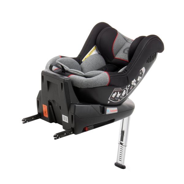 Scaun auto BABYAUTO MORE LENNOX, Isofix, rotatie 360 grade, picior suport, 0-18 kg, Gri/Rosu 9