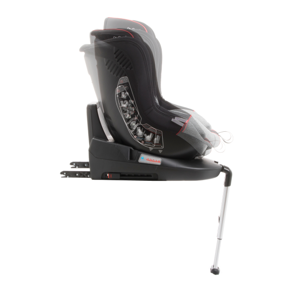 Scaun auto BABYAUTO MORE LENNOX, Isofix, rotatie 360 grade, picior suport, 0-18 kg, Gri/Rosu 8