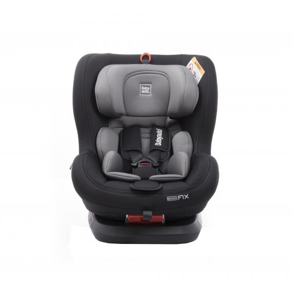 Scaun auto BABYAUTO BIRO Fix, Isofix, rotatie 360 grade, 0-25 kg, Negru/Gri 6