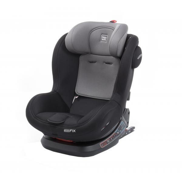 Scaun auto BABYAUTO BIRO Fix, Isofix, rotatie 360 grade, 0-25 kg, Negru/Gri 12