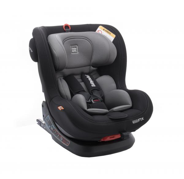 Scaun auto BABYAUTO BIRO Fix, Isofix, rotatie 360 grade, 0-25 kg, Negru/Gri 0