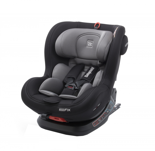 Scaun auto BABYAUTO BIRO Fix, Isofix, rotatie 360 grade, 0-25 kg, Negru/Gri 4