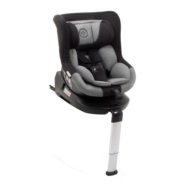 Scaun auto BABYAUTO MORE LENNOX, Isofix, rotatie 360 grade, picior suport, 0-18 kg, Negru/Gri 0