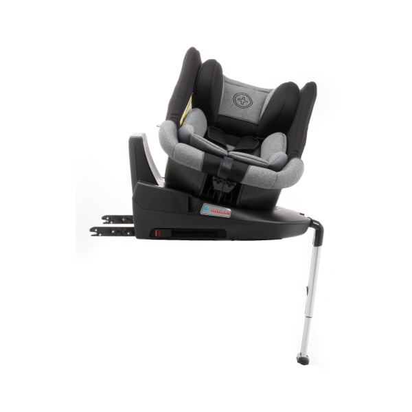 Scaun auto BABYAUTO MORE LENNOX, Isofix, rotatie 360 grade, picior suport, 0-18 kg, Negru/Gri 6