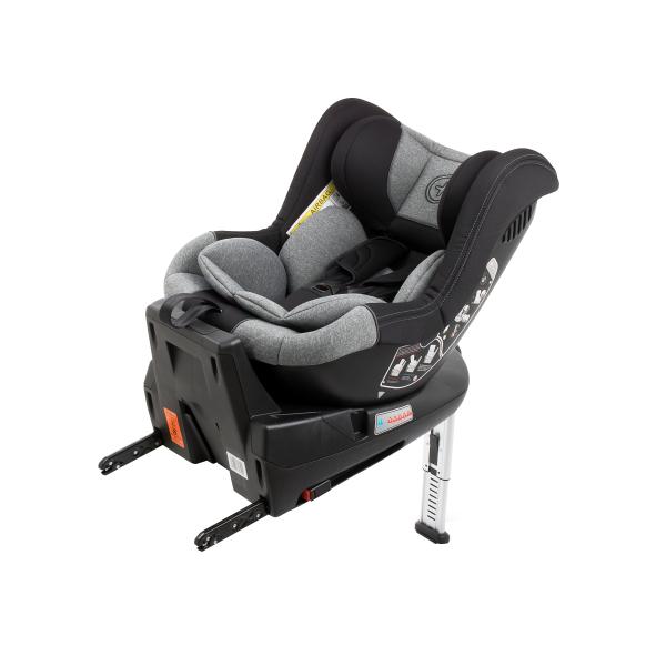 Scaun auto BABYAUTO MORE LENNOX, Isofix, rotatie 360 grade, picior suport, 0-18 kg, Negru/Gri [9]