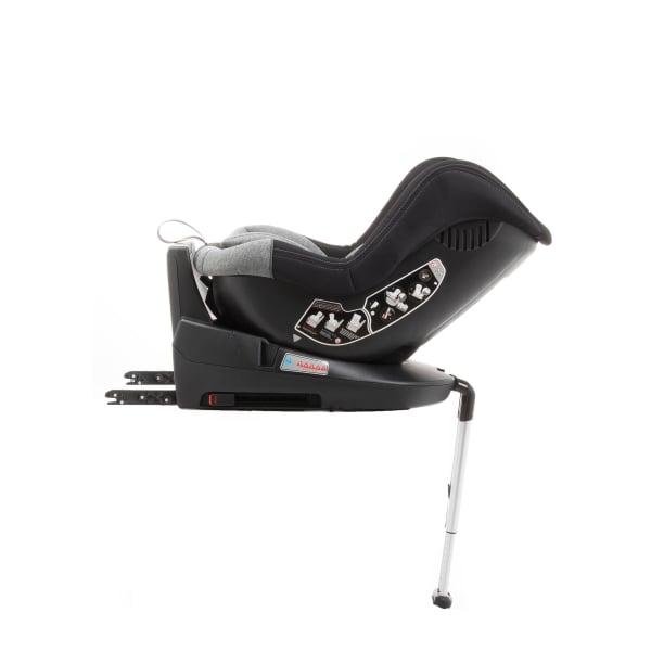 Scaun auto BABYAUTO MORE LENNOX, Isofix, rotatie 360 grade, picior suport, 0-18 kg, Negru/Gri [5]