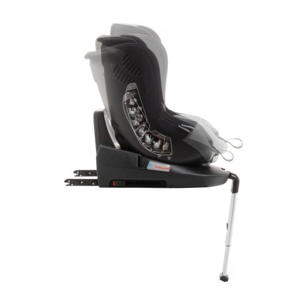 Scaun auto BABYAUTO MORE LENNOX, Isofix, rotatie 360 grade, picior suport, 0-18 kg, Negru/Gri [8]