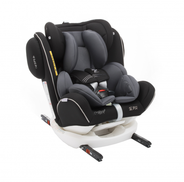 Scaun auto BABYAUTO MORE WERDU PLUS, Dual Isofix, 0-36 kg, Negru/Gri 0