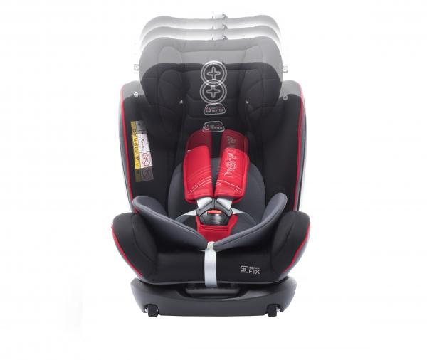 Scaun auto BABYAUTO MORE WERDU RWF, Dual Isofix, 0-36 kg, Gri/Rosu 4