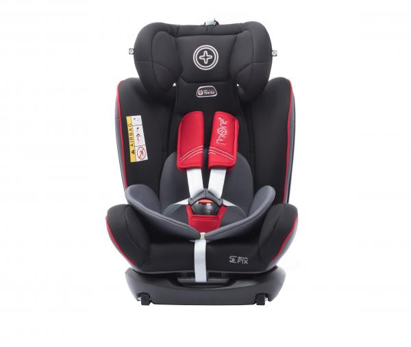 Scaun auto BABYAUTO MORE WERDU RWF, Dual Isofix, 0-36 kg, Gri/Rosu 3