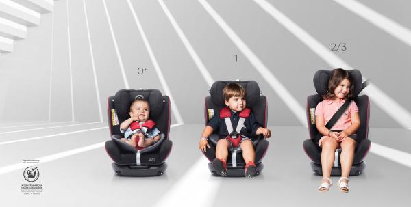Scaun auto BABYAUTO MORE WERDU RWF, Dual Isofix, 0-36 kg, Gri/Rosu 12