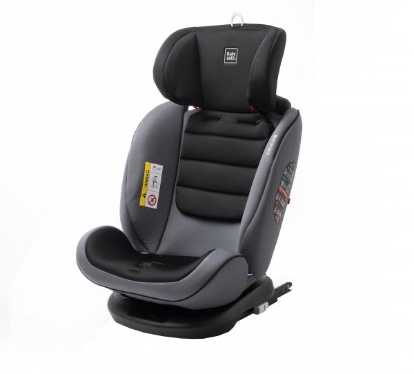 Scaun auto BABYAUTO VOLTA, Isofix, rotatie 360 grade, 0-36 kg, Gri 9