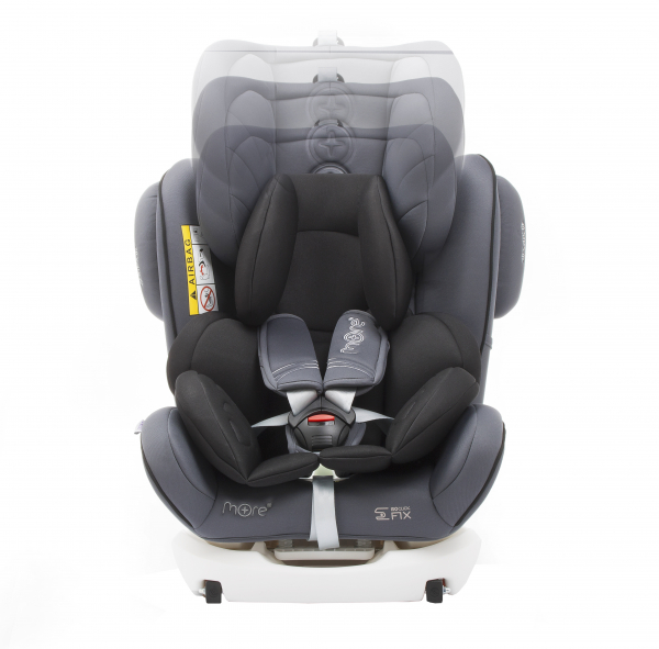 Scaun auto BABYAUTO WERDU PLUS, Dual Isofix, 0-36 kg, Gri/Negru 5