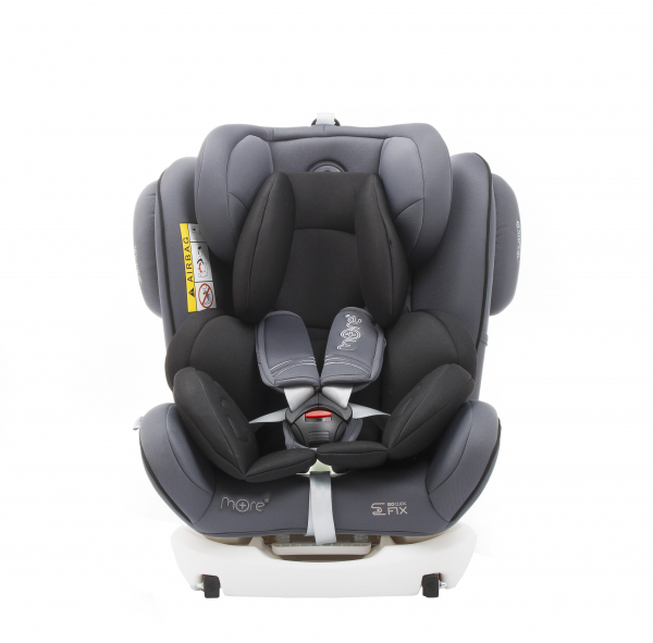 Scaun auto BABYAUTO WERDU PLUS, Dual Isofix, 0-36 kg, Gri/Negru 4