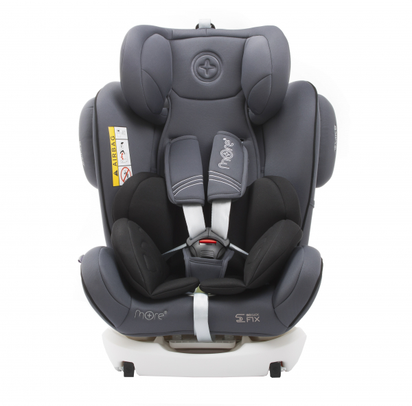 Scaun auto BABYAUTO WERDU PLUS, Dual Isofix, 0-36 kg, Gri/Negru 6