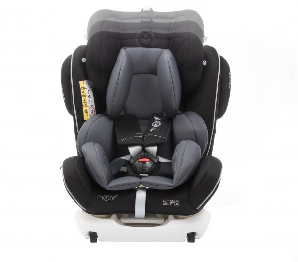 Scaun auto BABYAUTO MORE WERDU PLUS, Dual Isofix, 0-36 kg, Negru/Gri 5