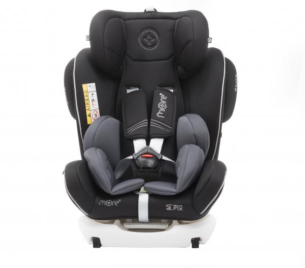 Scaun auto BABYAUTO MORE WERDU PLUS, Dual Isofix, 0-36 kg, Negru/Gri 4