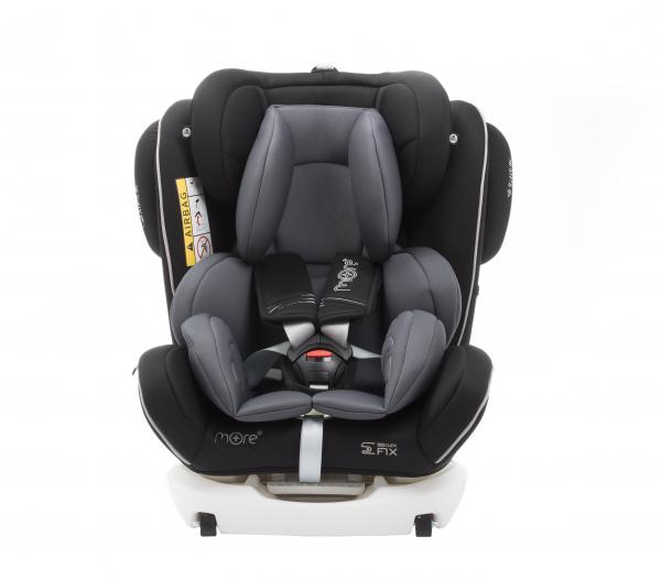 Scaun auto BABYAUTO MORE WERDU PLUS, Dual Isofix, 0-36 kg, Negru/Gri 1