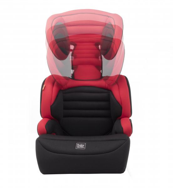 Scaun auto Babyauto Zarauz Sin Deluxe, 15-36 Kg, Negru/Rosu 4