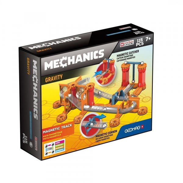 Set constructie magnetic Geomag Gravity Race Track 115 piese 0