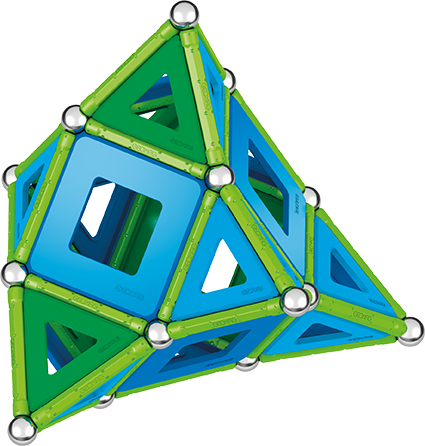 Set de construcie magnetic Geomag, Green Line Classic Panel, 114 piese 3