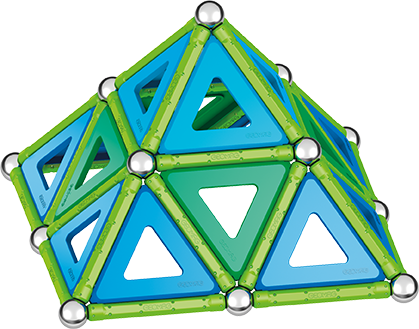Set de construcie magnetic Geomag, Green Line Classic Panel, 114 piese 1