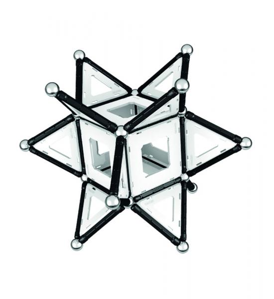 Set de constructie magnetic Geomag Black&White 104 piese 2