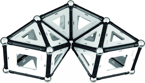 Set de constructie magnetic Geomag Black&White 104 piese 8