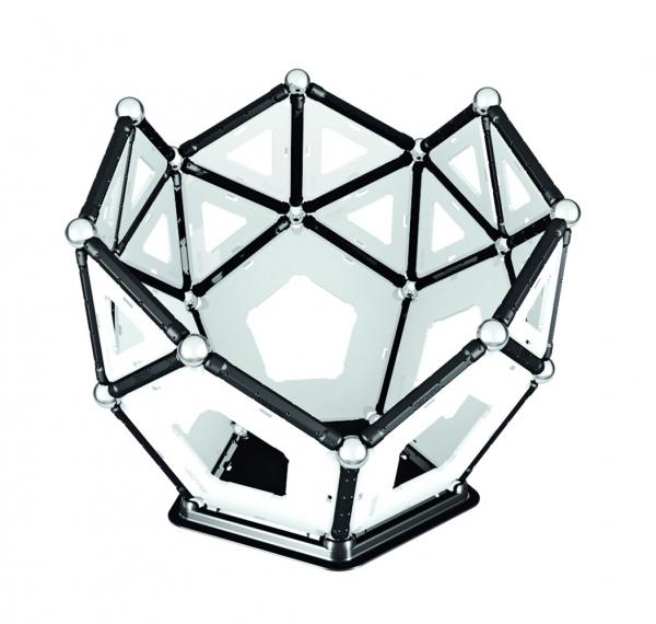 Set de constructie magnetic Geomag Black&White 104 piese 7