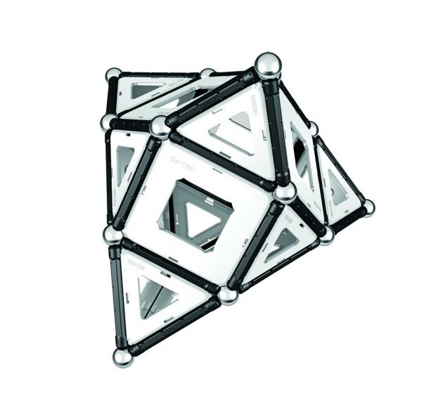 Set de constructie magnetic Geomag Black&White 104 piese 3