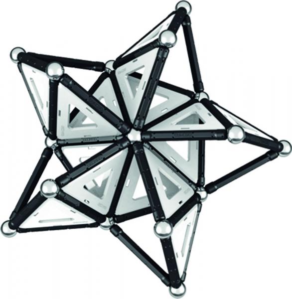 Set de constructie magnetic Geomag Black&White 104 piese 4
