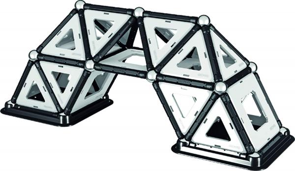 Set de constructie magnetic Geomag Black&White 104 piese 6