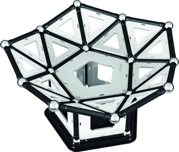 Set de constructie magnetic Geomag Black&White 104 piese 5