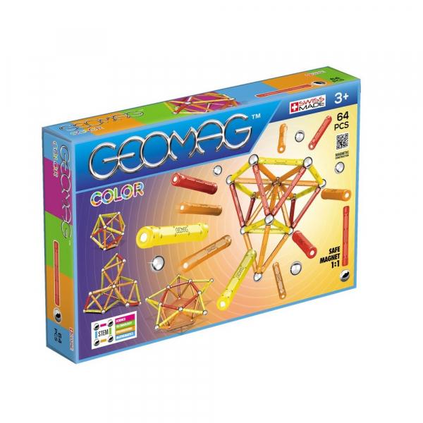 Set de constructie magnetic Geomag Color 64 piese 0