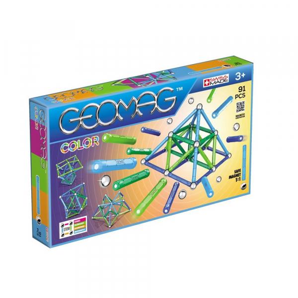 Set de constructie magnetic Geomag Color 91 piese [0]