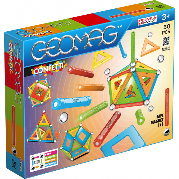 Set de constructie magnetic Geomag, Confetti, 50 piese 0