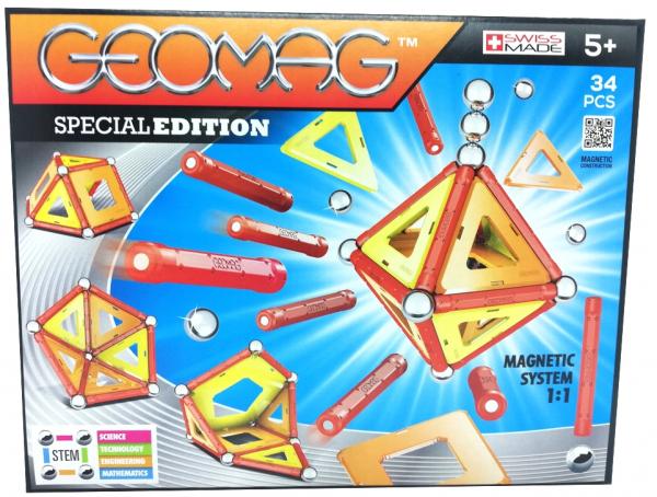 Set de constructie magnetic Geomag Editie Speciala  Color 34 piese 0