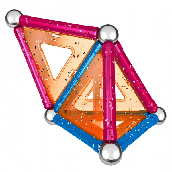Set de constructie magnetic Geomag Glitter 22 piese 3