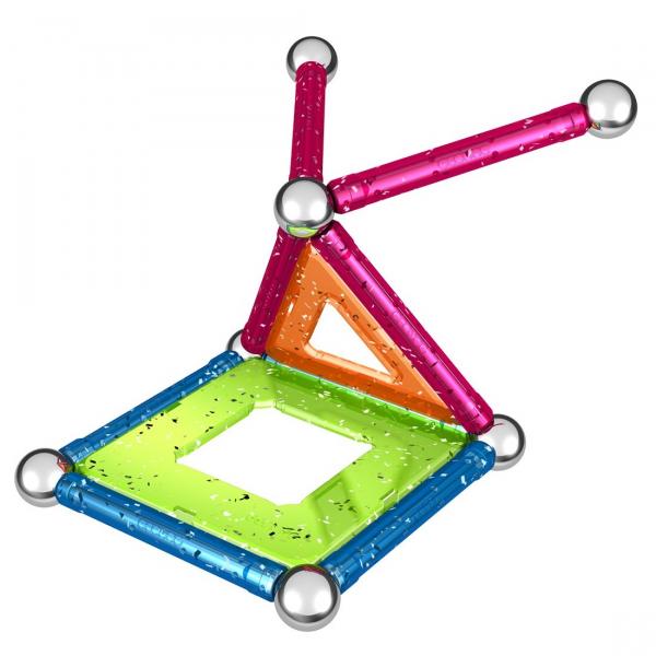 Set de constructie magnetic Geomag Glitter 22 piese 1